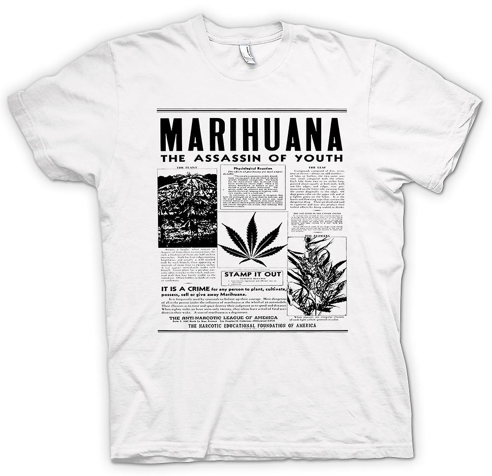 Womens T-shirt - Marihuana Hash - Assassin Of Youth