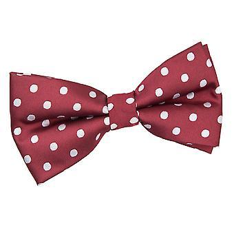 Burgundy Polka Dot Pre-Tied Bow Tie