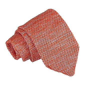 Orange Melange ren flekkete strikket slank slips
