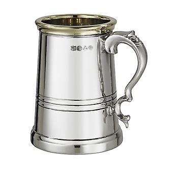 Worcester Pewter and Brass Heavy Tankard 1 Pint