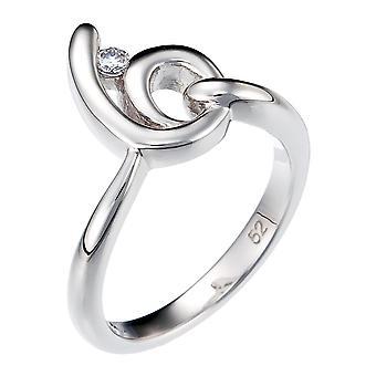 Orphelia argent 925 anneau courbe Zirconium ZR-3723