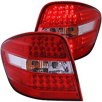 Anzo USA 321053 Mercedes-Benz ML Red/Clear LED Tail Light Assembly - (Sold in Pairs)