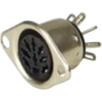 DIN connector Sleeve socket, straight pins Number of pins: 7 Silver Hirschmann MAB 7 S 1 pc(s)