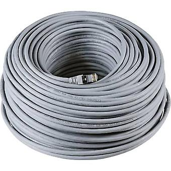RJ45 Networks Cable CAT 6A S/FTP 40 m Grey UL-approved, Flame-retardant, incl. detent EFB Elektronik