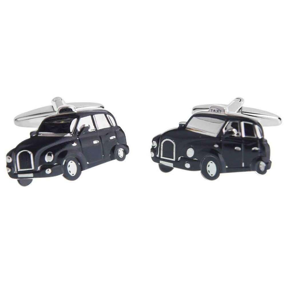 Zennor London Taxi Cufflinks - Black/Silver