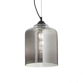Ideal Lux Bistro' Single Pendant Light Square Fume'