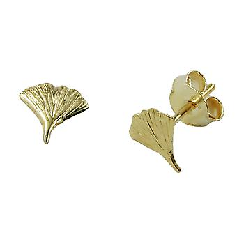 Gingko earrings Golden Earring GINKGO leaf Ginkgo connector 7 mm 9 KT gold 375