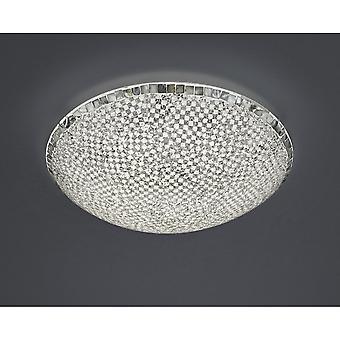 Trio d'éclairage moderne Mosaique Crackle argent verre grand plafonnier