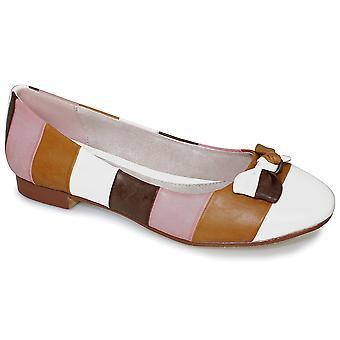 Wsuwane buty damskie wielokolorowe paski łuk przedni niski obcas damskie buty wygodne mieszkania