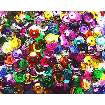 6mm Round Cupped Sequins for Sewing Crafts & Embellishments - 4000pk