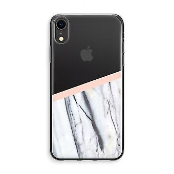 iPhone XR Transparant Case (Soft) - A touch of peach