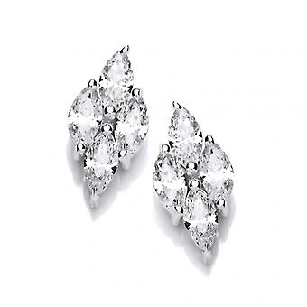 Cavendish French Silver and Cubic Zirconia Icicle Earrings
