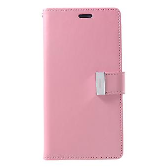 Mercury GOOSPERY Rich Diary to iPhone XS Max-Pink