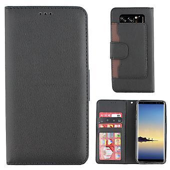 Bolsa de la carpeta de Colorfone Samsung Galaxy Nota 8 (negro)
