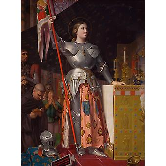 Joan of Arc at the, Jean Auguste Dominique Ingres, 50x40cm