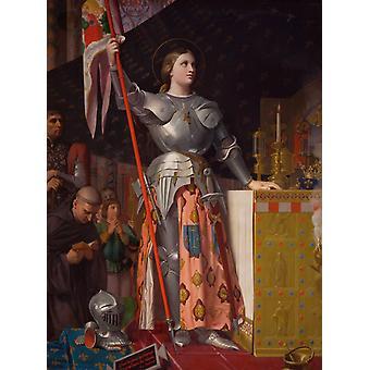Jeanne d'Arc op de, Jean Auguste Dominique Ingres, 50x40cm