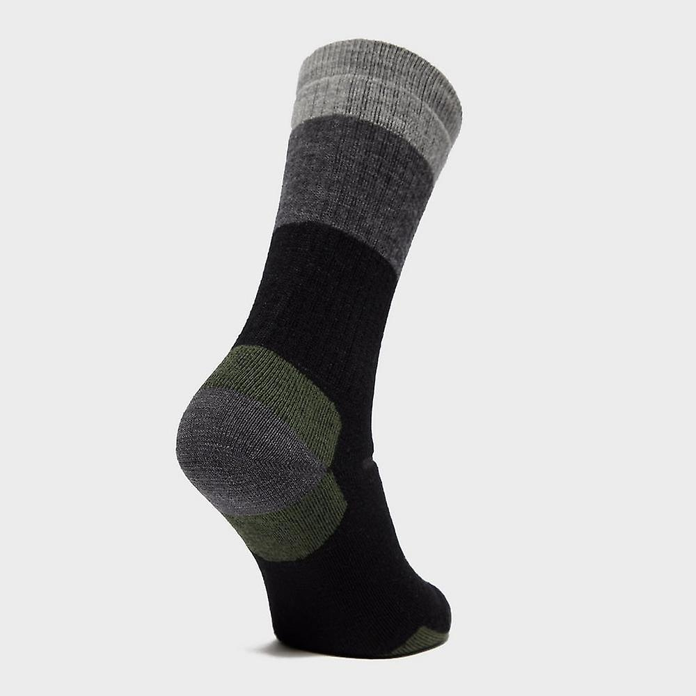 59f10f1fa New Point6 Men's Hiking Stripe Medium Socks Black