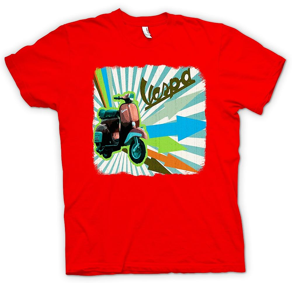 Mens t-shirt - Vespa Scooter - frecce