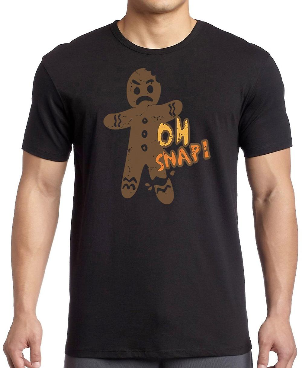 Oh Snap - Gingerbread Man - Funny Kids T Shirt