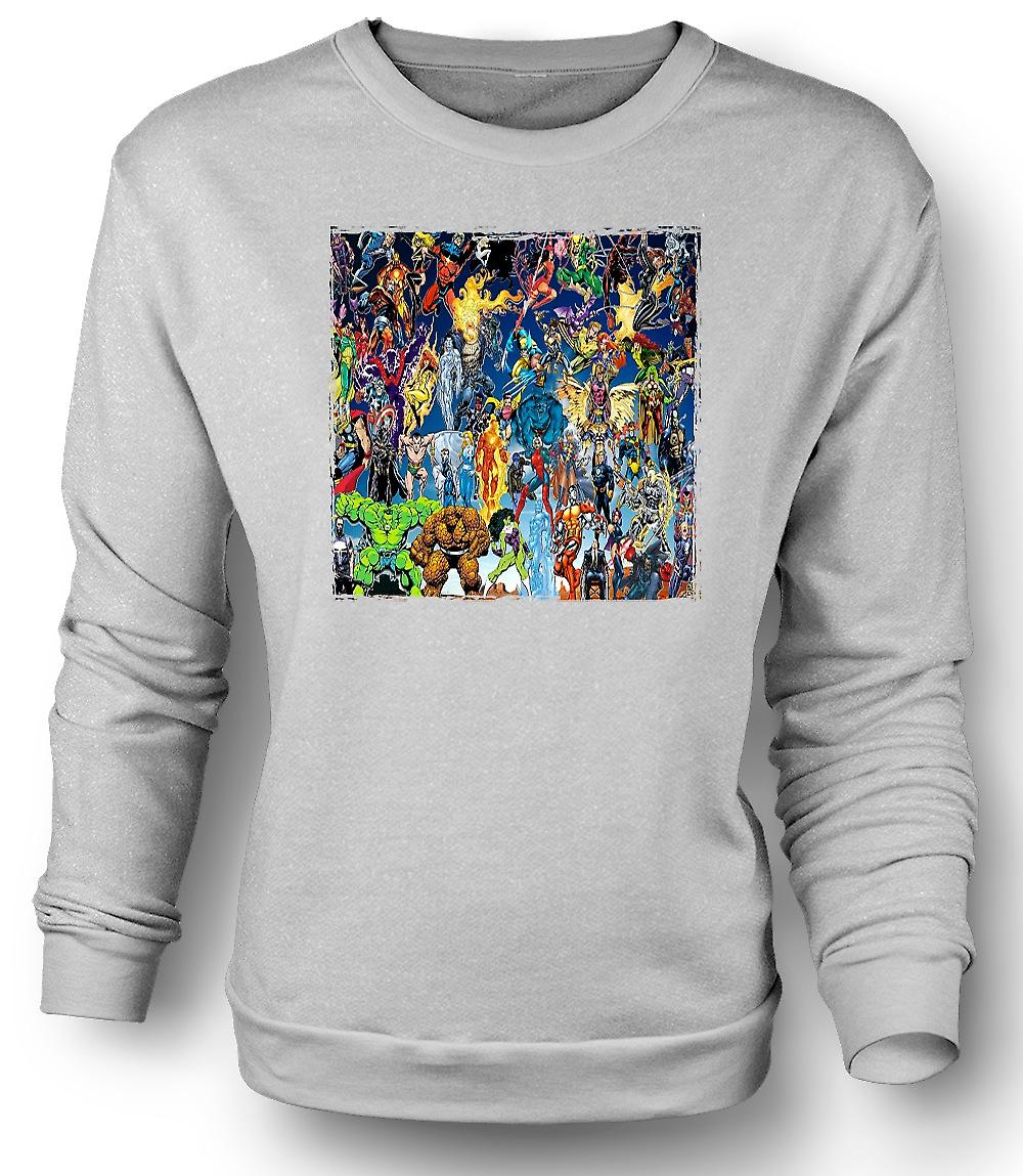 Mens Sweatshirt Marvel tegneserien Super helten - Collage