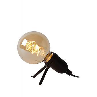 Lucide Pukki moderne trekant metall svart bordlampe