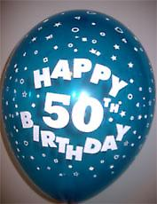 Ballonger HAPPY 50TH BIRTHDAY