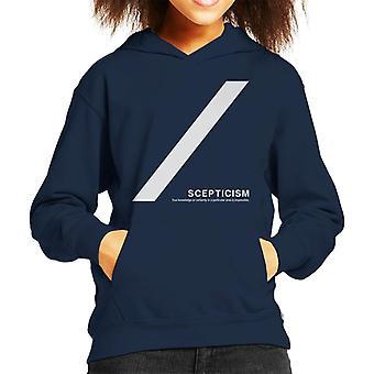 Scepticism Philosophy Symbol Kid's Hooded Sweatshirt