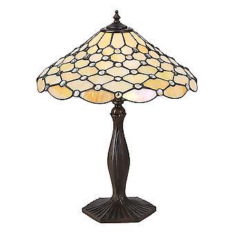 Perle moyenne Style Tiffany lampe de Table - Interiors 64301 1900