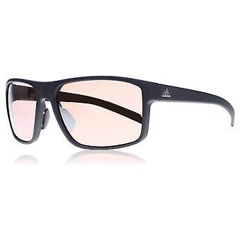 Adidas A423/00 6051 retângulo preto Whipstart óculos de sol lente categoria 3 lente espelhada tamanho 61mm