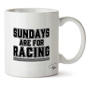 Hippowarehouse Sundays Are For Racing Printed Mug Cup Ceramic 10oz