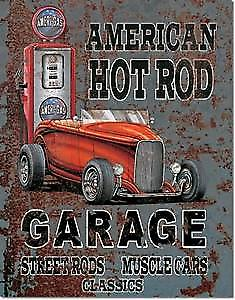 American Hot Rod Garage metal sign    (de)
