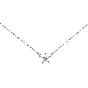 Bella Cubic Zirconia Star Necklace - Silver