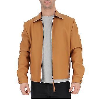 Loewe Double Face Beige Leather Outerwear Jacket