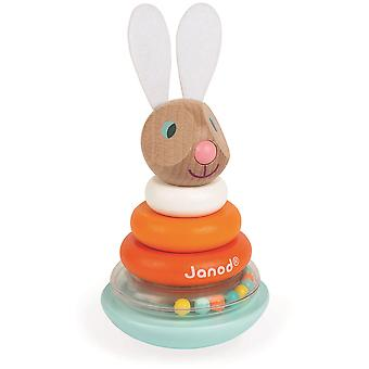 Janod Lapin Stackable Roly-Poly Rabbit