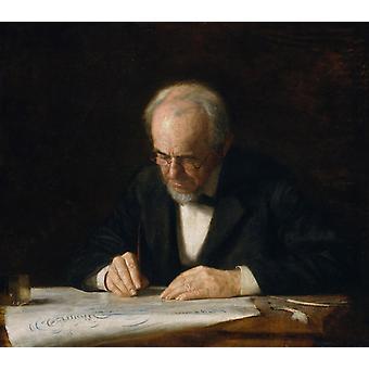 Write Master,Thomas Eakins,50x44cm