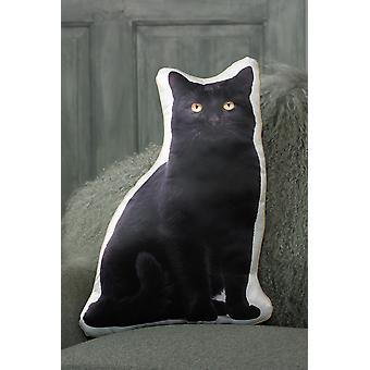 Adorable black cat shaped cushion