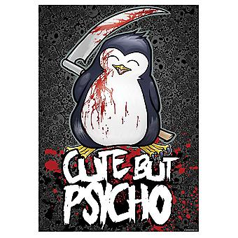 Psycho Penguin Cute But Psycho Mini Poster