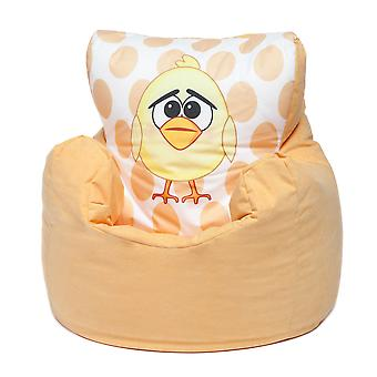 Loft 25® Toddler Animal Print Soft Plush Bean Bag Chair-Chick, Yellow