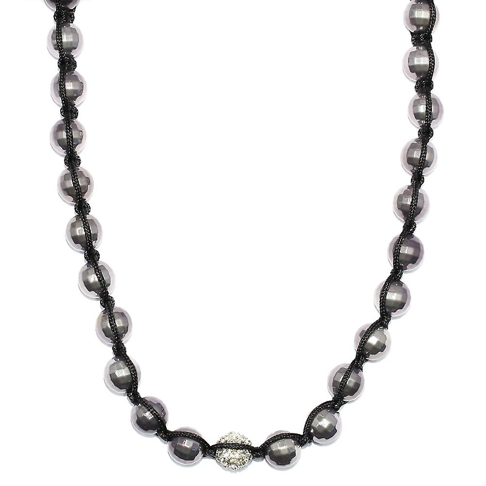 Shamballa Hexagon Ball Necklace with Crystal Ball detail