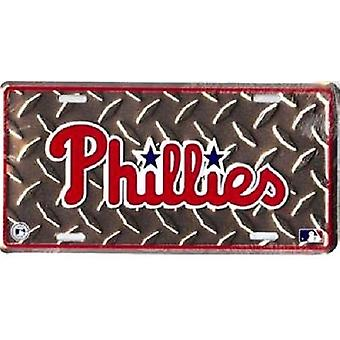 Philadelphia Phillies MLB Diamond Plate License Plate