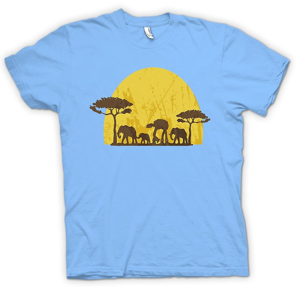 ATAT e Mens t-shirt - Star Wars Safari - elefante
