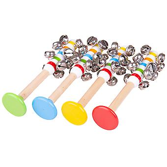 Bigjigs Toys Wooden Bell Stick - Children's Musical Instrument Toys