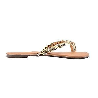 dELiAs Filles Fashion Sandals Little Kid Shimmery Braided Fabric Flats