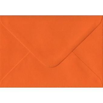 Orange Gummed C6/A6 Coloured Orange Envelopes. 100gsm FSC Sustainable Paper. 114mm x 162mm. Banker Style Envelope.