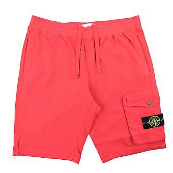 Stone Island 65860 beklædningsgenstande farvet shorts rød V0115