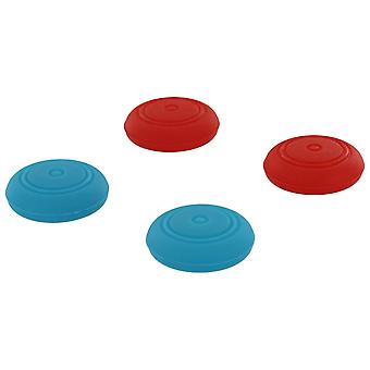 Silicone thumb grip stick caps for nintendo switch joy-con controllers - 4 pack red & blue