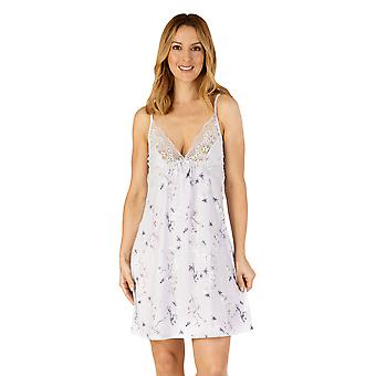 Slenderella GL4710 Women's Gaspe Floral Lace Chemise