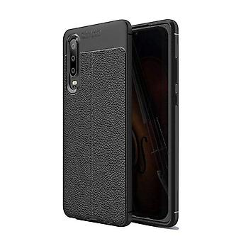 Huawei P30 Case Texture Inlay Back Shell Black