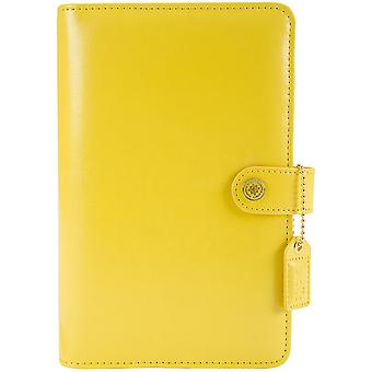 Couleur Crush A2 simili-cuir Personal Planner Kit-jaune CCPK001-Y