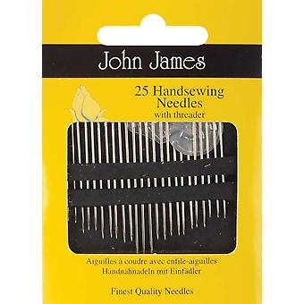 Hand Needles With Threader 25 Pkg Jj50000
